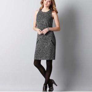 Loft Tweed Sleeveless Shift Dress -Fully Lined EUC